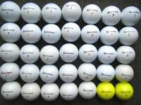 35 Taylormade golf balls in excellent condition, burner, burner soft, xp ldp, rocketballz,