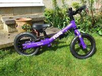 FROG Tadpole balance bike. Purple.