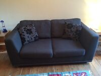 Dark grey/charcoal double sofa bed, in good condition