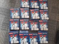 15 sets of 4 brand new spark plugs various sizes £35 the lot