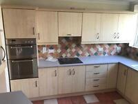Kitchen with oven, hob and sink. All ready uninstalled. Ready to pick up