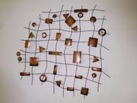 Modern Metal Wall Art - Abstract Design - Picture