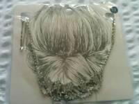 Bridal hairpiece. Beautiful unusual. Crystal.