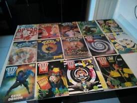 Judge dredd paper comics 80s good condition PayPal available free postage uk 14 comics