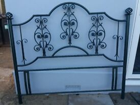Wrought Iron Doublebed Headboard - Green