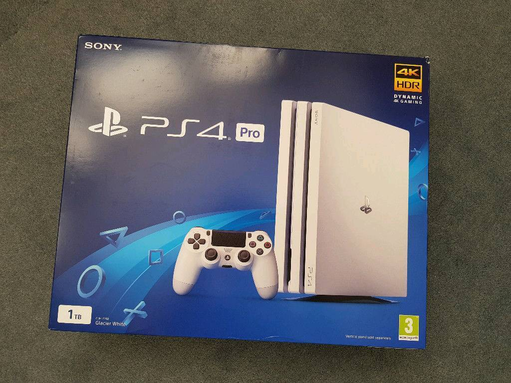 PlayStation 4 PRO 1TB White brand new PS4