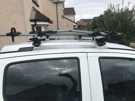 Roof rack and 3 bike racks