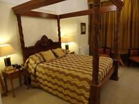 7FT Super-King size Queen Anne Style Mahogany Four Poster Bed.
