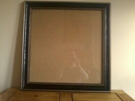square black and silver silver picture frame