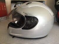 New in box motorbike helmet size m 57-58 silver