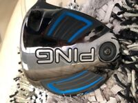 Ping G driver, mint condition 9 degree with 2 shafts.
