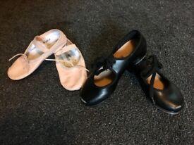 Kids ballet & tap shoes