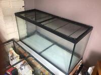 2 x glass tanks
