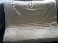 Tosa Futon Sofa Bed with Mattress - Cotton Cream