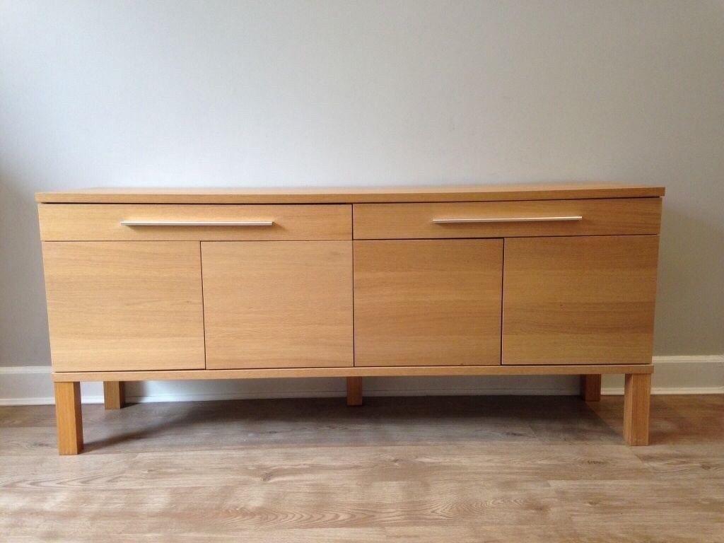 ikea bjursta sideboard oak veneer excellent condition | in mansfield