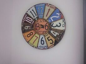 Large Industrial Looking Wall Clock 60cm