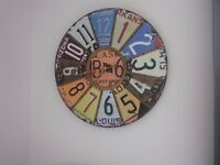 Large Industrial Looking Wall Clock 60cm