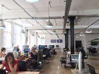 4 desks available now for £400.00 per desk per month