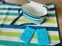 Beautiful picnic blanket and small cooler bag