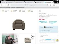 Furniture village Leather electric armchair