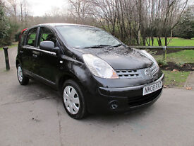 2008 (08 reg) Nissan Note 1.4 Visia 5dr Large MPV Hatchback, Full Service History, Low miles