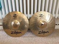 "Zildjian Z Custom 13 "" Hi Hats Cymbals VERY GOOD CONDITION"