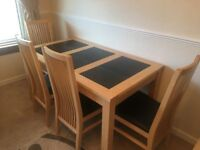 Dining Room Table and Four Chairs NEW