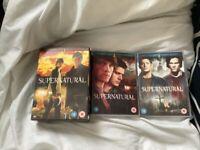 DVD boxset bundle Supernatural season 1,3,4 complete boxsets