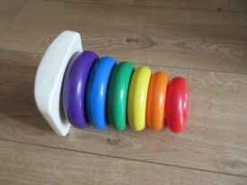 STACKER RING BABY TOY in varying sizes & bright colours - REDUCED to £2.50