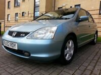 ★ LOW MILEAGE CIVIC TYPE S ★ LAST OWNER 12 YEARS ★ NOV 2002 Honda Civic 2.0 5dr hatch ★ FULL S H