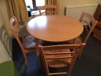 Table and Chairs Set   Good Condition   £25