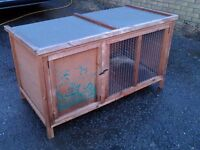 LARGE RABBIT HUTCH IN EXCELLENT CONDITION, SPLIT LEVEL, PROFESSIONALLY MADE HUTCH, IDEAL PRESENT