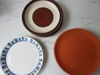 Assorted Dinner Plates (Denby, Ikea, Etc.)