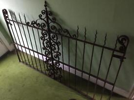 Pair of original Victorian ornamental driveway gates