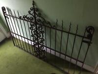 Pair of original Victorian ornamental driveway gates