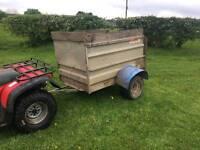 Quad atv logic livestock trailer
