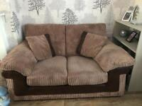 Dfs 2 x3 seater 1 x2 seater and storage pouffe