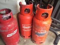 3x19kg empty gas bottles