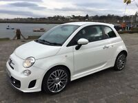 White Fiat 500 Abarth 1.3 133 bhp - low mileage, full service history, 10 months MOT