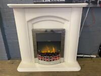 ELECTRIC FIRE WITH FULL SURROUND IN EXCELLENT CONDITION