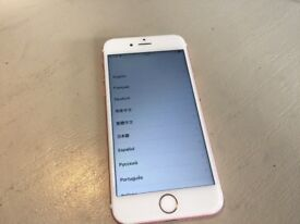 IPHONE 6S 16GB ROSE GOLD UNLOCKED - FAULTY TOUCH ID HOME BUTTON WORKS - GOOD CONDITION