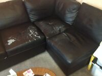 black corner couch Bed (FREE TO COLLECTOR)