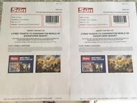 Chessington tickets x 2 07/07/2017
