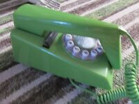 RETRO GREEN TRIM PHONE, Perfect working order as new