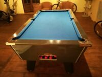 POOL TABLE SLATE BED 7ft x 4ft WITH BLUE CLOTH - EXCELLENT CONDITION