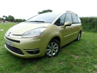 Gold Citroen C4 Grand Picasso Diesel - Full Service History - Excellent Example For Sale and Swaps