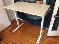 White Sit/Stand Desk
