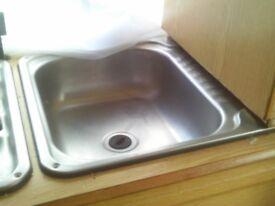 caravan stainless steel sink with drainer