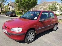 2001 Peugeot 106 Zest 2 1.5d, diesel, long MOT, low mileage, 3 owners from new, bargain 70mpg