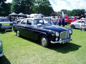 1965 Rover P5 3 Litre Coupe Silver over Blue with Blue interiior